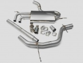 Milltek Cat-back - Non-Resonated with Twin 80mm Jet Tips (For Seat Leon(1P)/VW Golf Mk5 2.0 TDI 140)